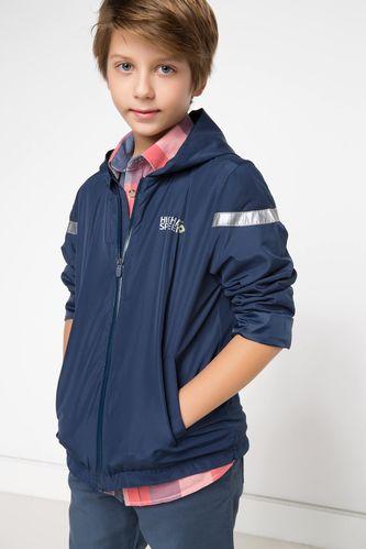 Genç Erkek Kapşonlu Yağmurluk DeFacto