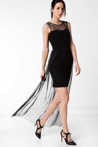 Şifon Abiye Uzun Elbise DeFacto