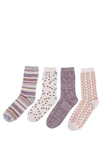 4'lü Jakarlı Çorap Seti