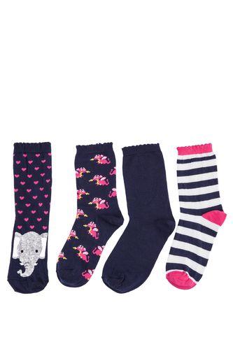 DeFacto Fil Desenli 4'lü Çorap Seti