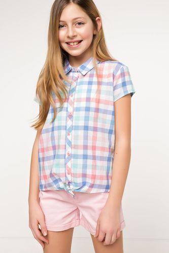 Belden Bağlamalı Genç Kız Gömlek DeFacto