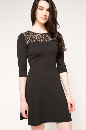 Dantel Detaylı Elbise DeFacto