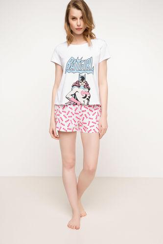 Batgirl Baskılı Lisanslı Pijama Takımı