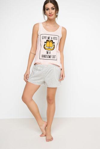 Garfield Baskılı Lisanslı Pijama Takımı