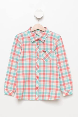 Kız Çocuk Ekoseli Gömlek DeFacto