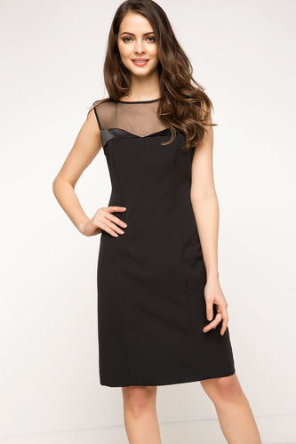 Şifon Detaylı Gece Elbisesi DeFacto