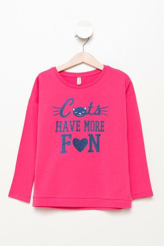 DeFacto Baskılı Kız Çocuk Sweatshirt