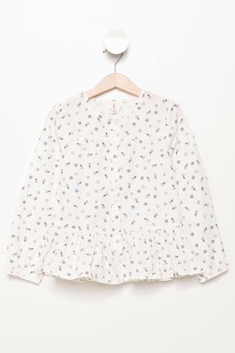 Çiçekli Kız Çocuk Gömlek DeFacto