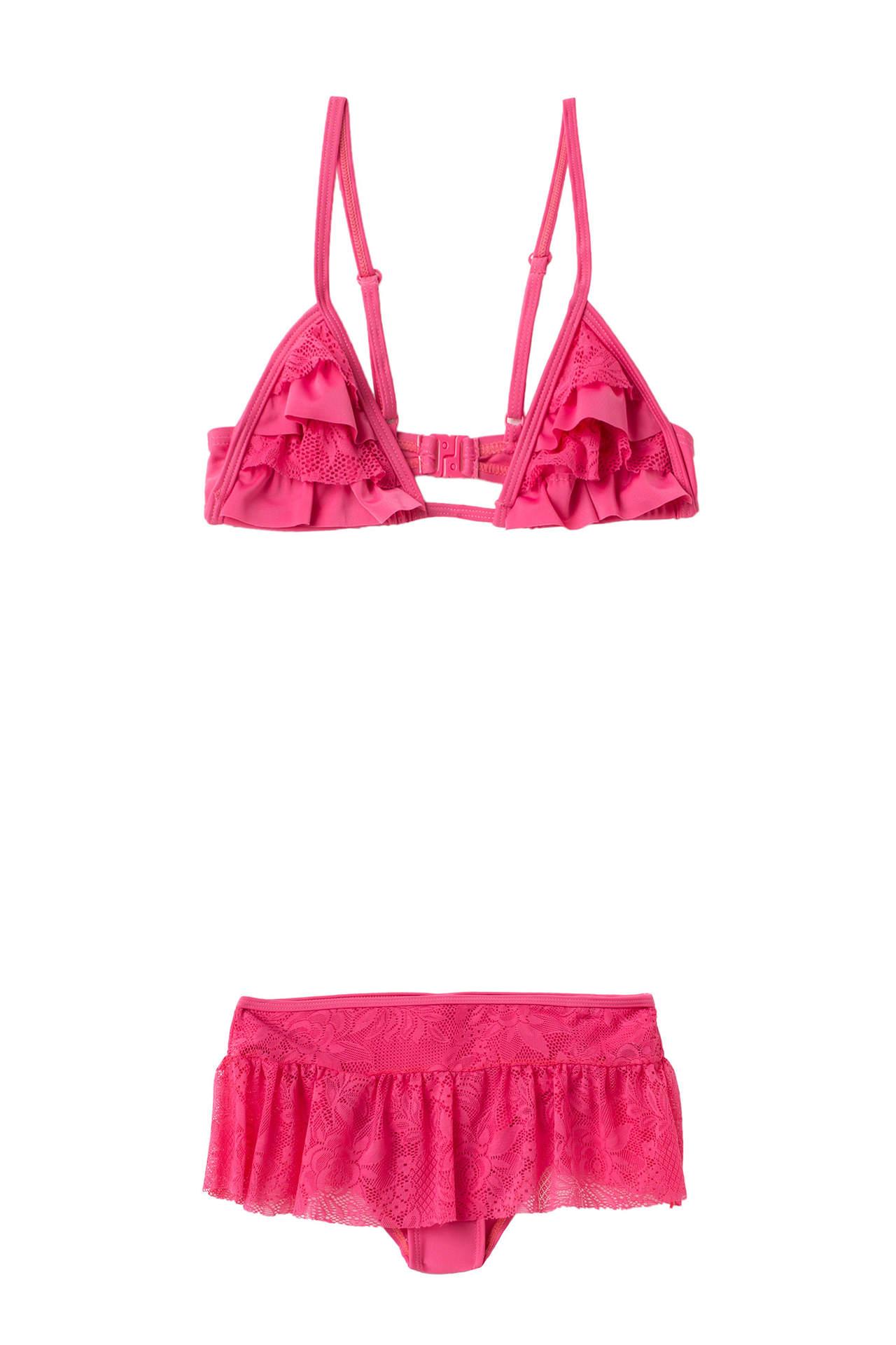 DeFacto Kız Çocuk Fırfırlı Bikini Pembe female