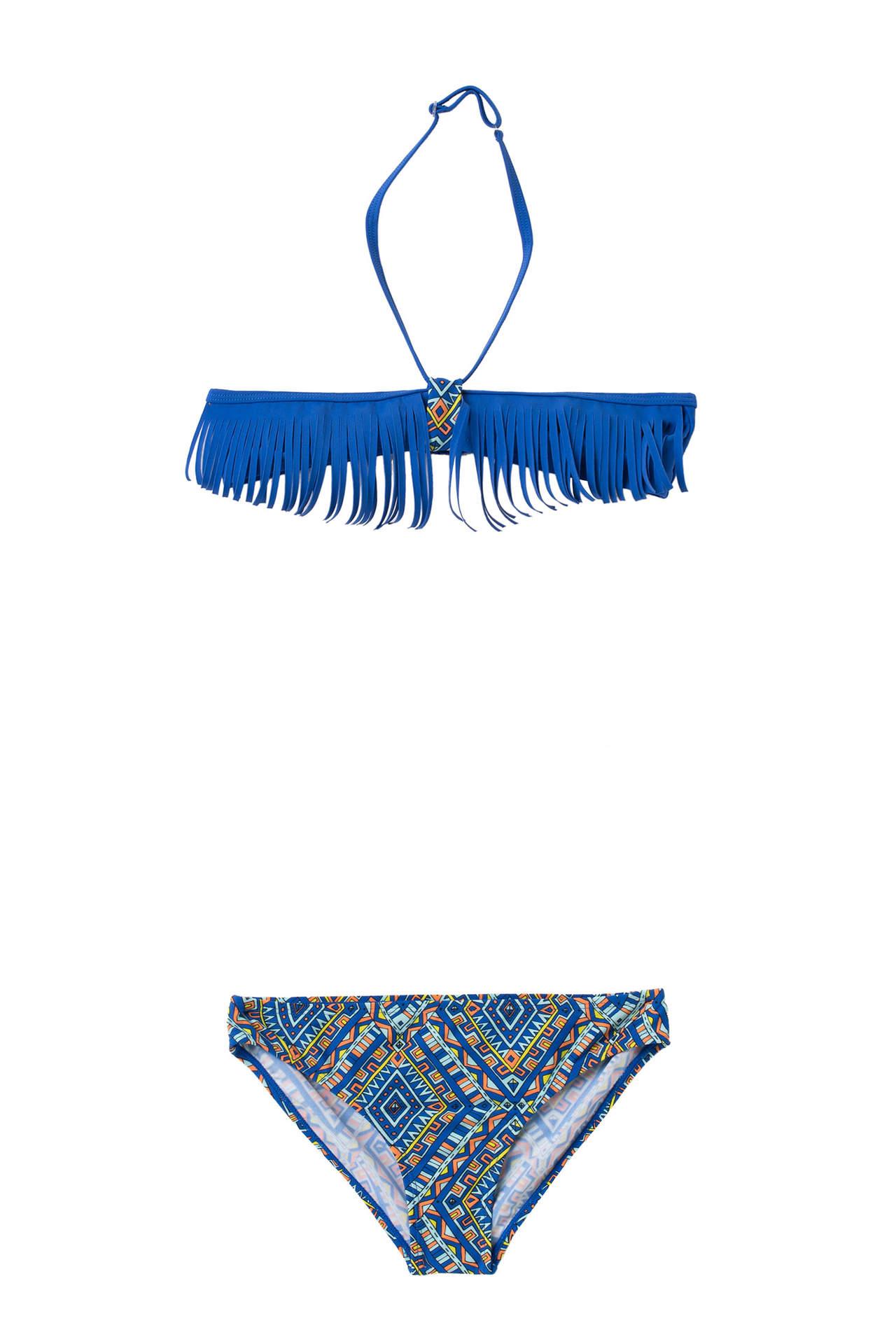 DeFacto Kız Çocuk Püsküllü Bikini Mavi female
