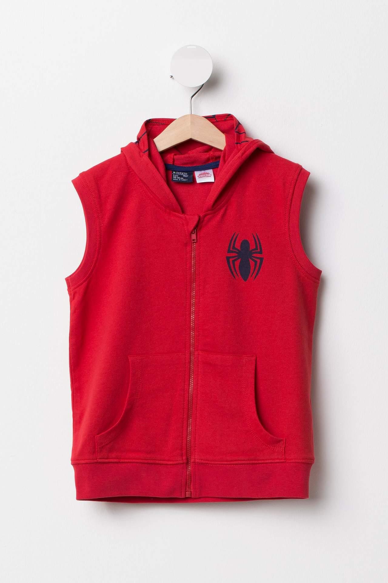 DeFacto Erkek Çocuk Spiderman Lisanslı Yelek Kırmızı male