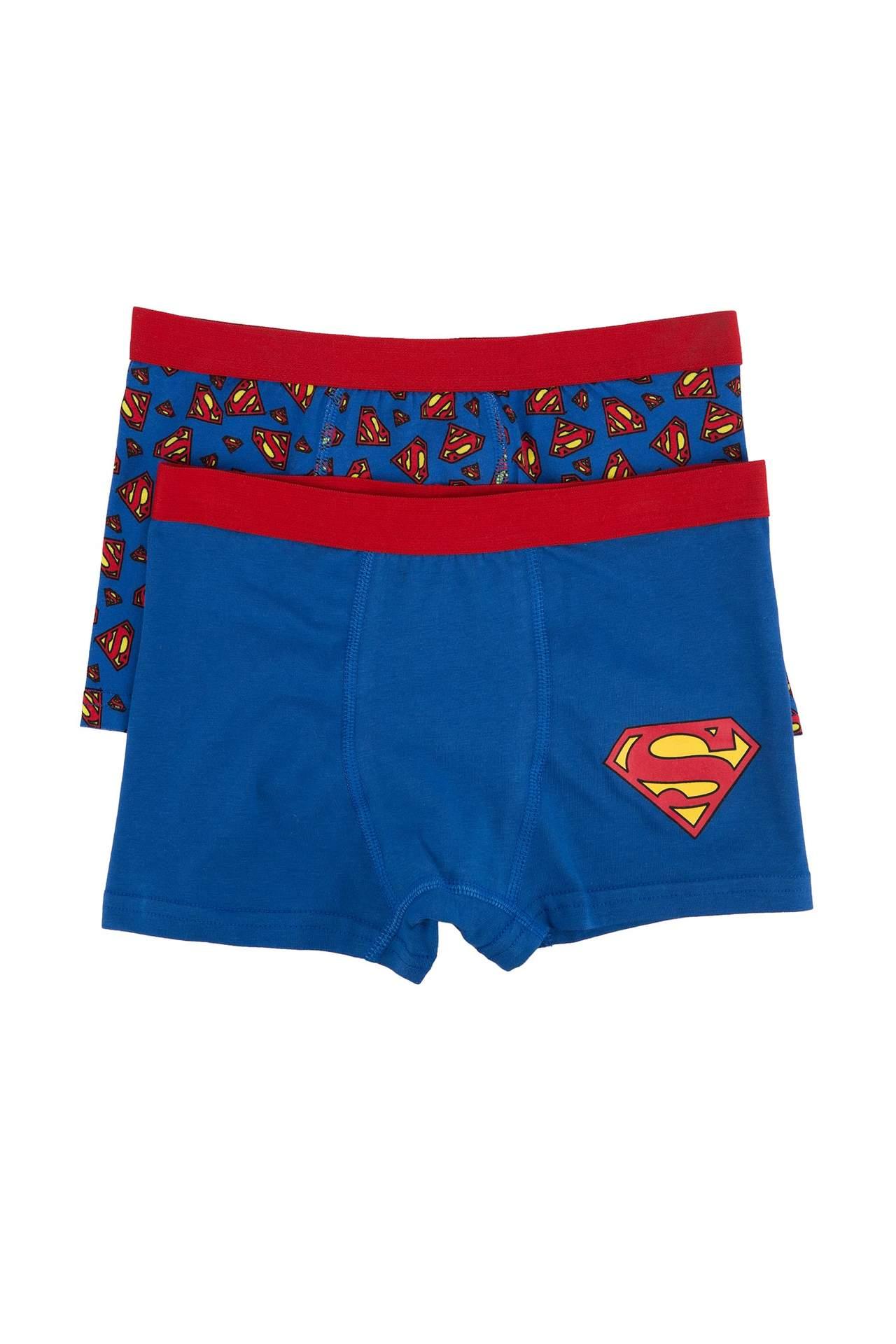 DeFacto Erkek Çocuk Superman Lisanslı Boxer Mavi male