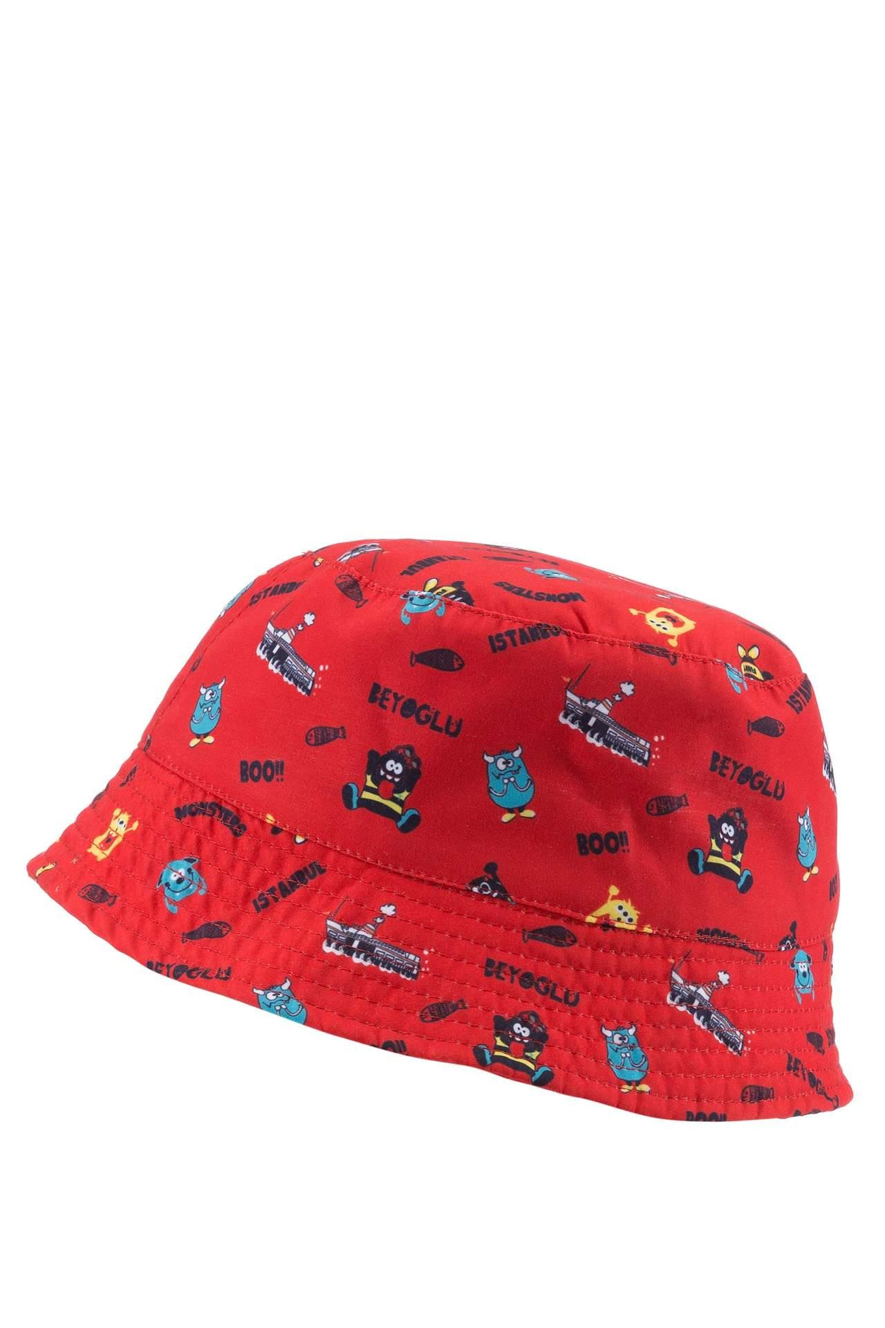 DeFacto Erkek Çocuk Tema Baskılı Şapka Kırmızı male