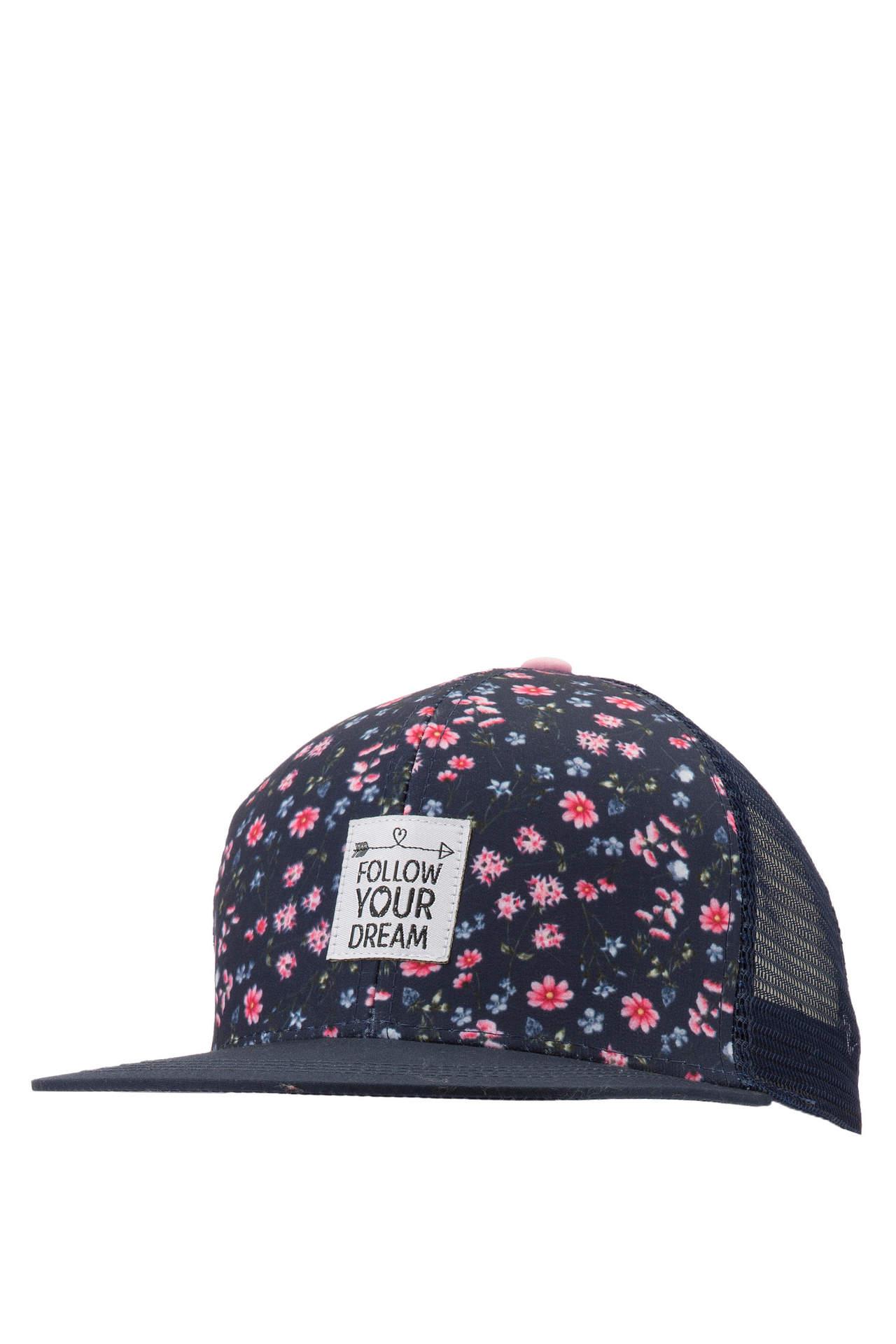 DeFacto Kız Çocuk Çiçek Desenli Şapka Lacivert female