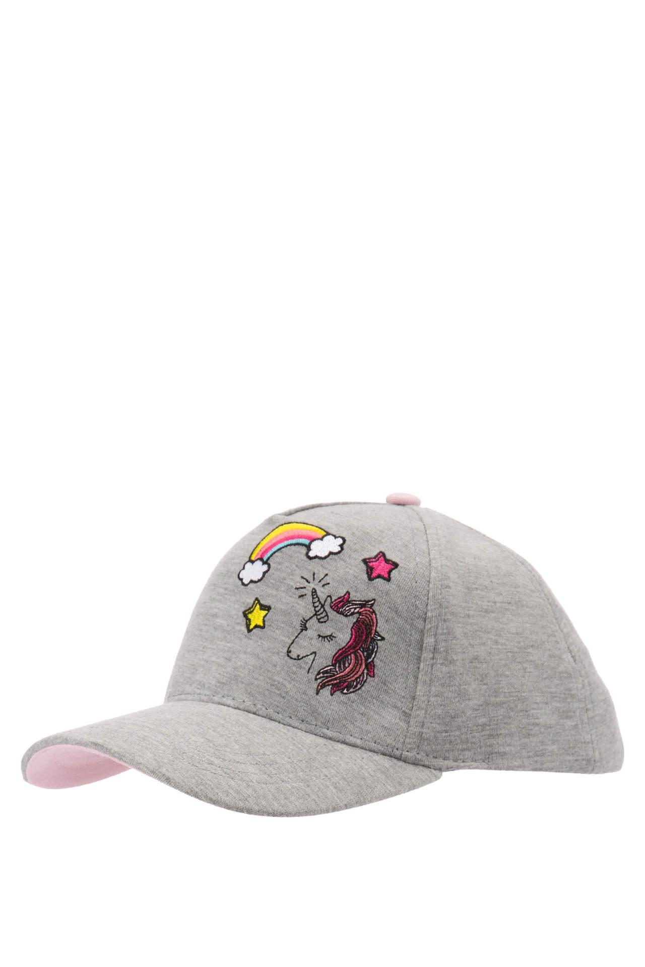 DeFacto Kız Çocuk Baskılı Şapka Gri female
