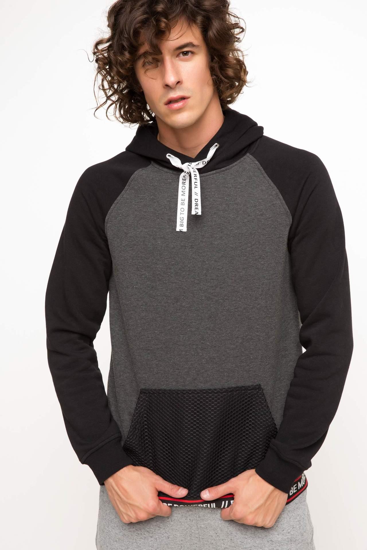 Kapşonlu Sporcu Sweatshirt