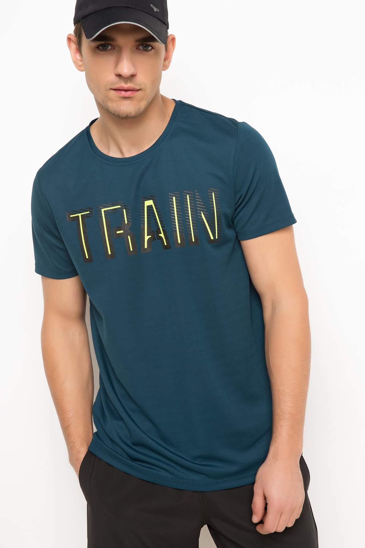 Baskılı Sporcu T-Shirt