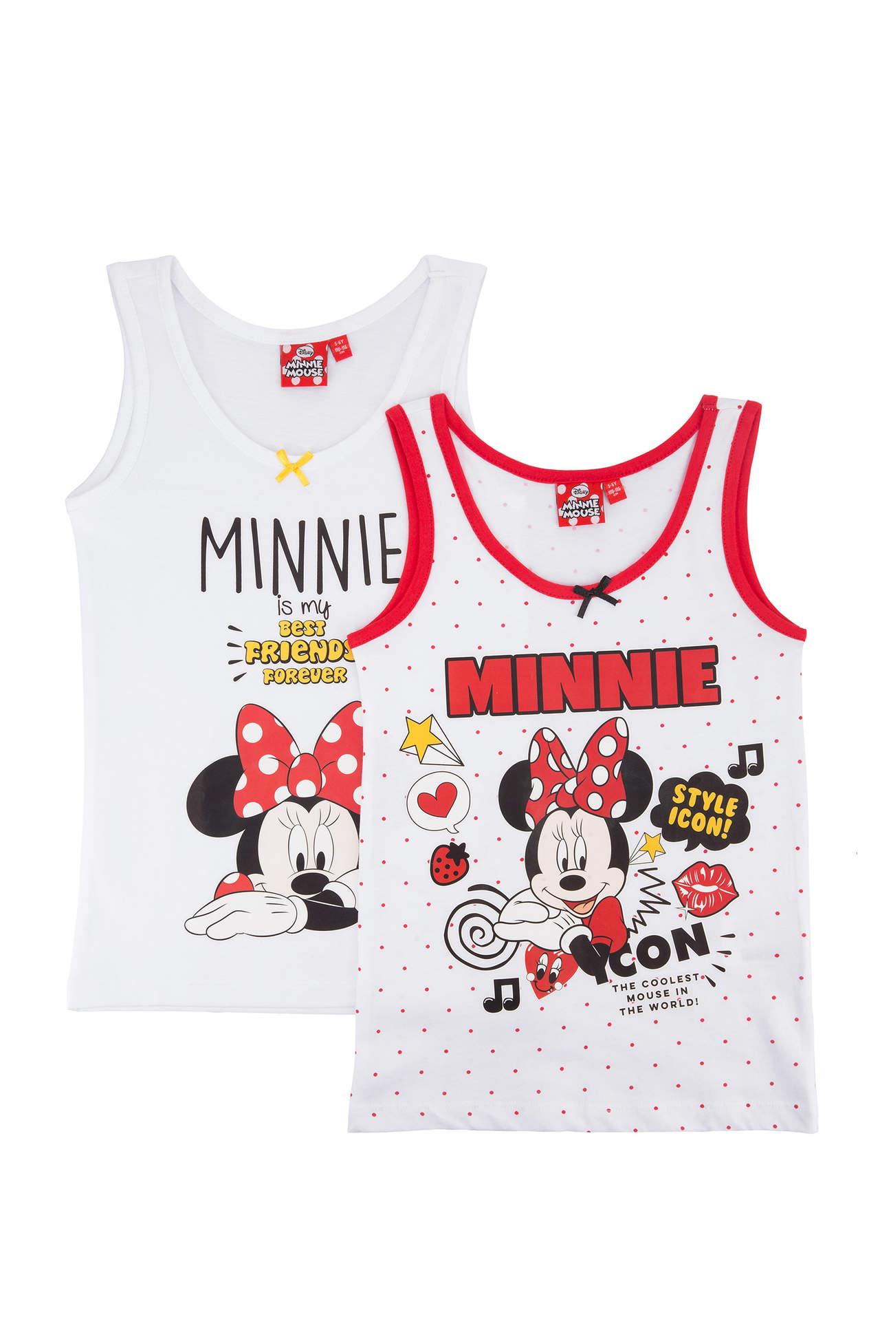 Minnie Mouse Lisanslı Kız Çocuk İkili Atlet