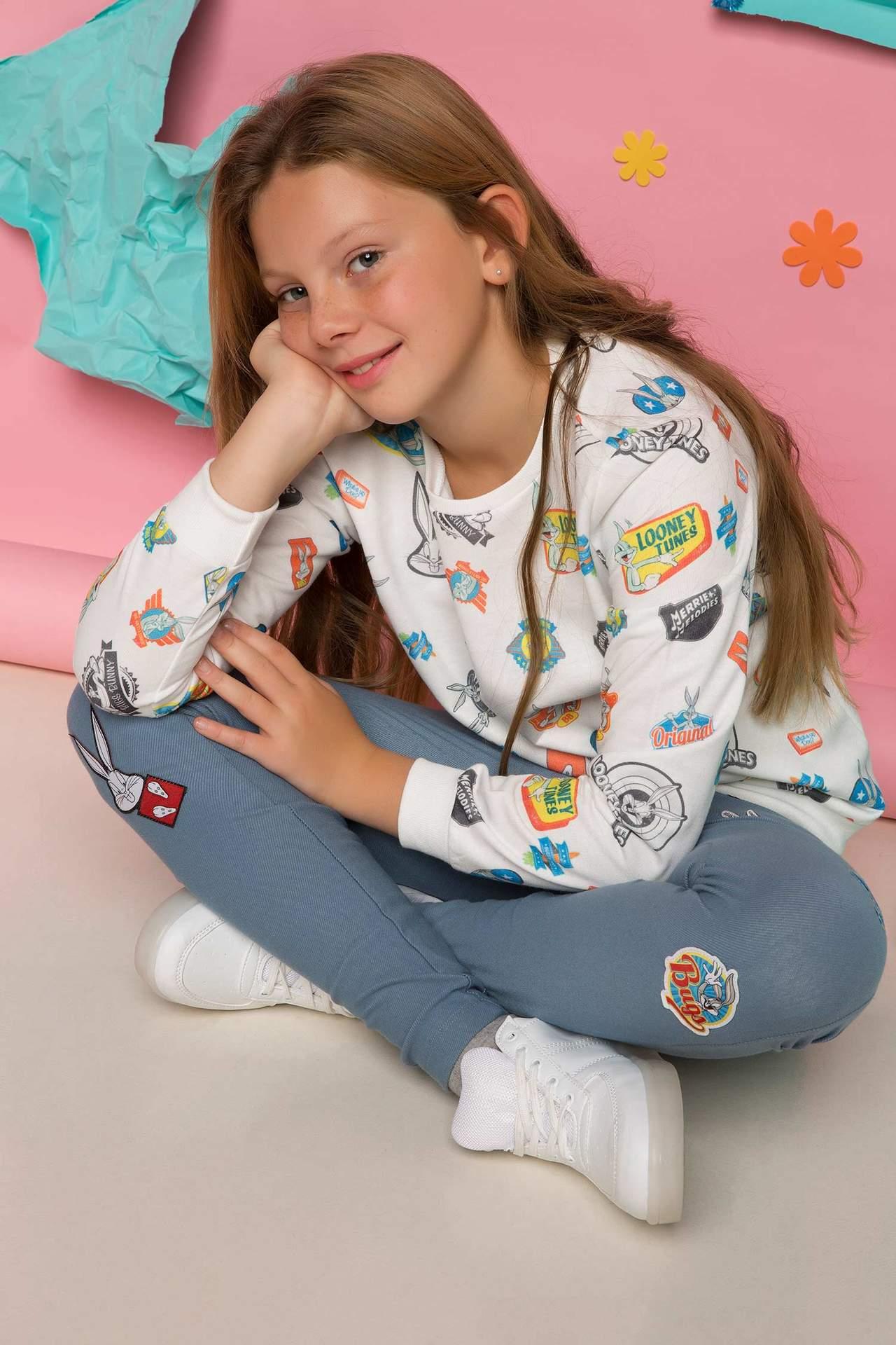Kız Çocuk Payetli Kazak