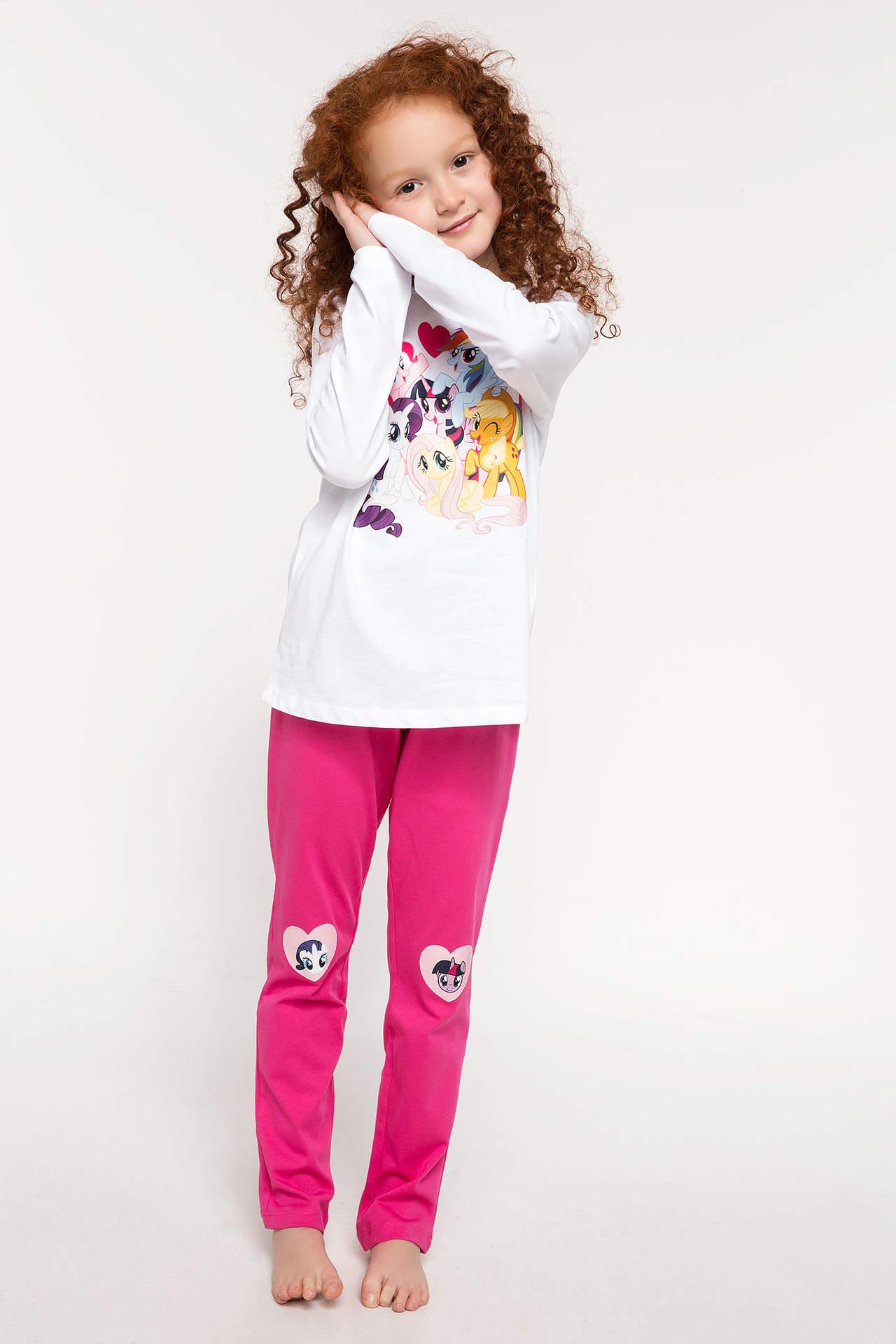 DeFacto Kız Çocuk My Little Pony Lisanslı Pijama Takımı Beyaz female