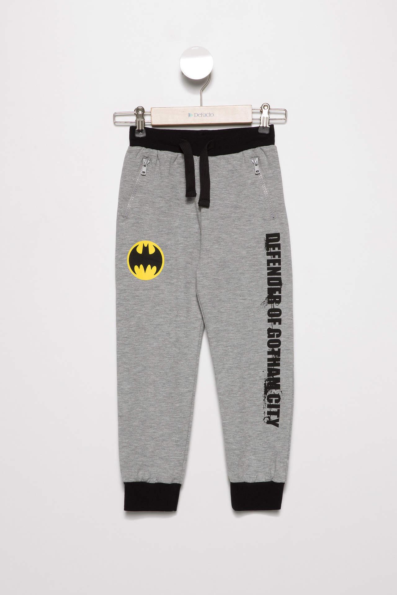DeFacto Erkek Çocuk Batman Lisanslı Eşofman Altı Gri male