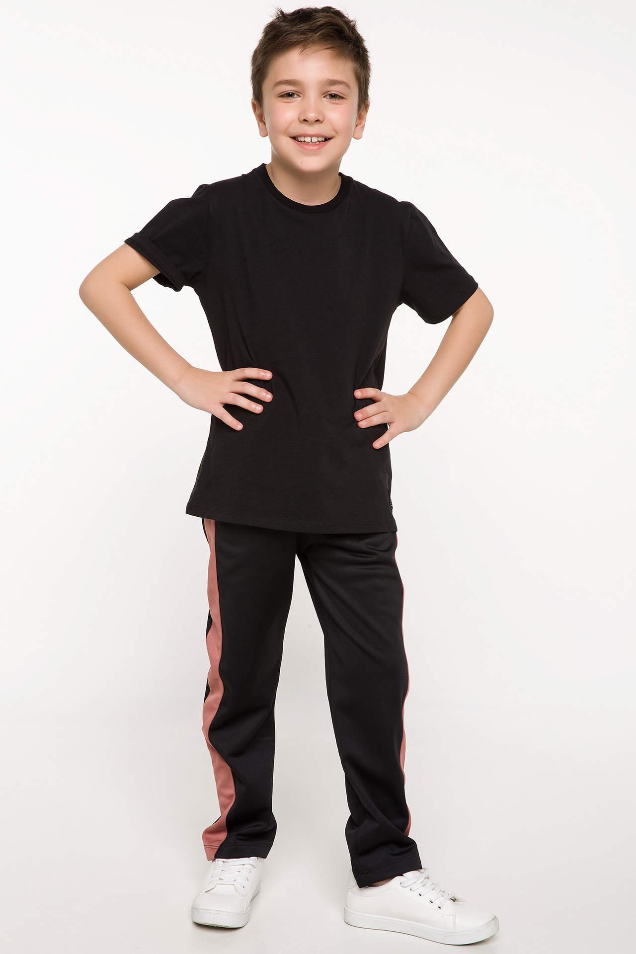 DeFacto Erkek Çocuk Eşofman Altı Siyah male
