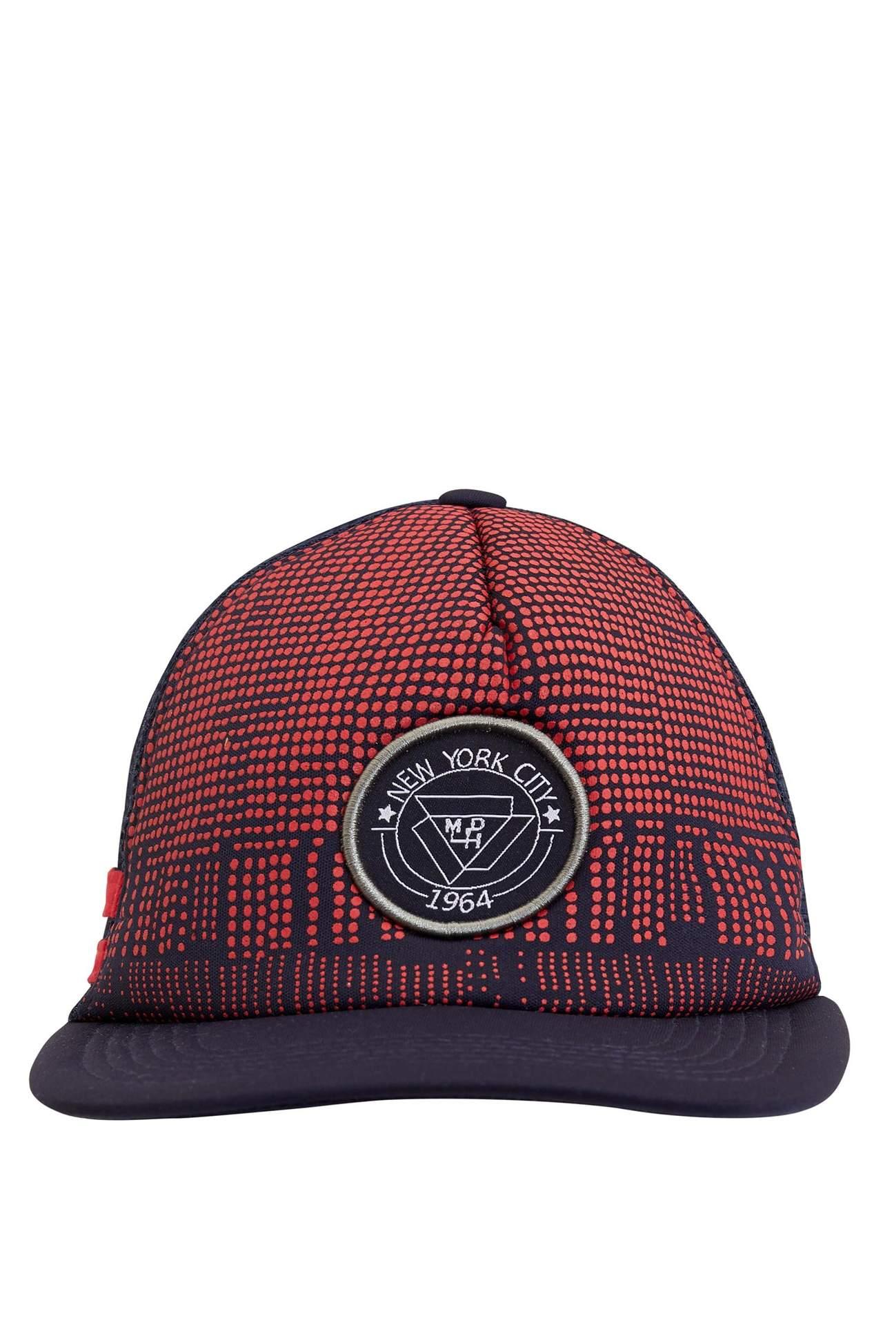 DeFacto Erkek Çocuk Baskılı Hip Hop Şapka Lacivert male