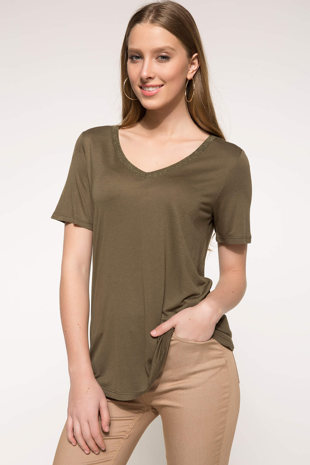 Defacto Kadın Kısa Kollu Tshirt