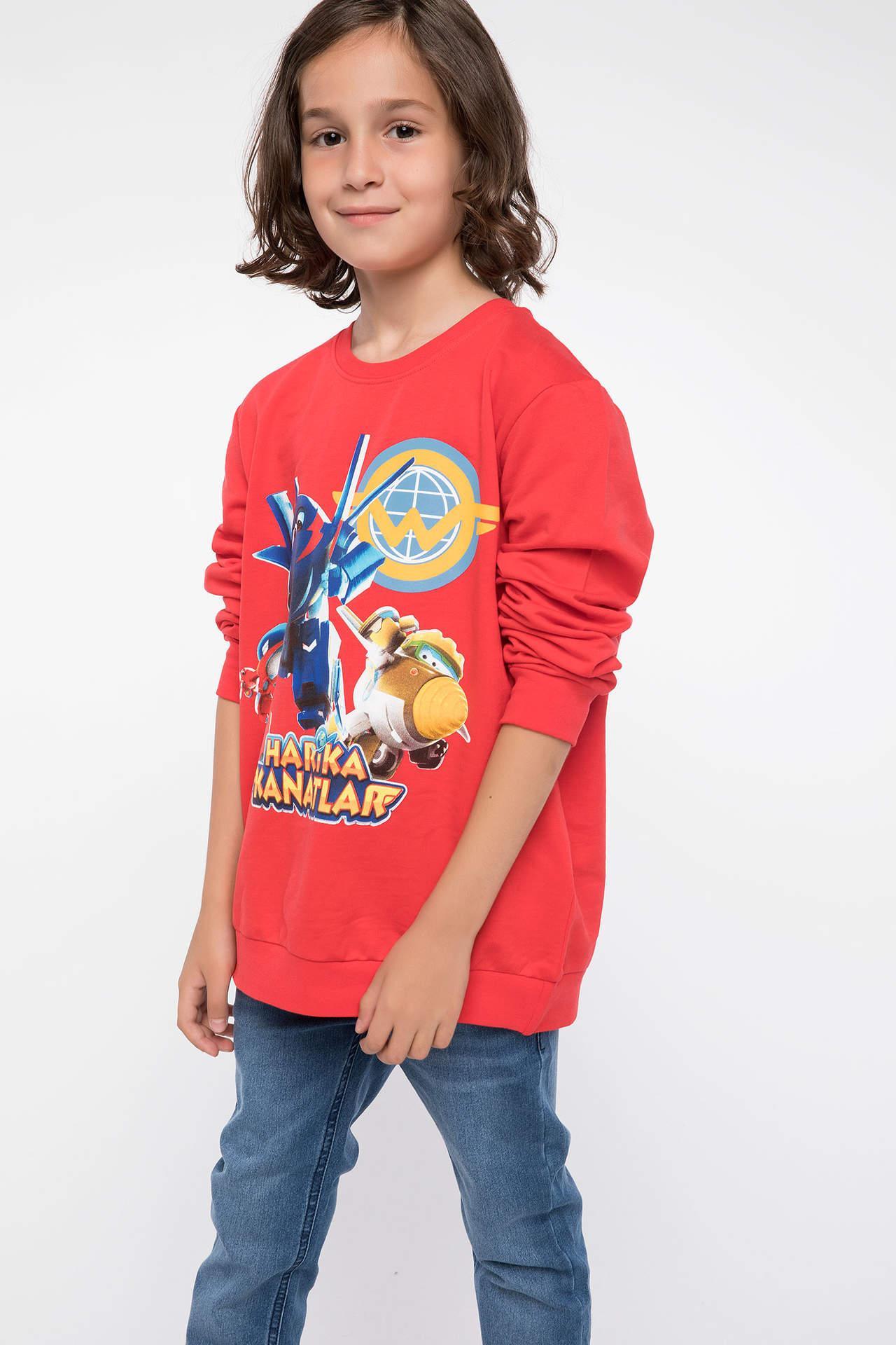 DeFacto Erkek Çocuk Harika Kanatlar Lisanslı Sweatshirt Kırmızı male