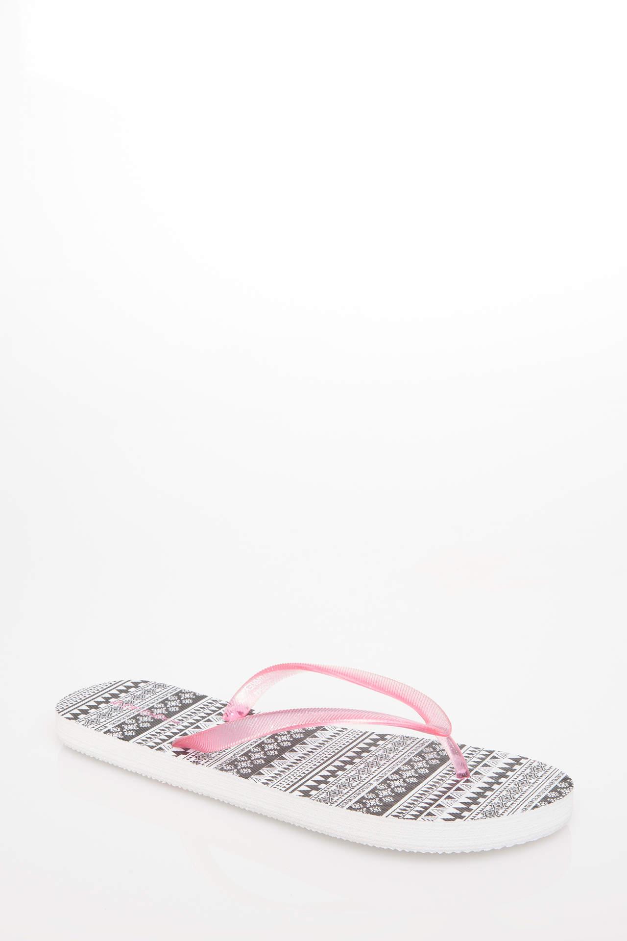 DeFacto Kadın Baskılı Parmak Arası Terlik Beyaz female