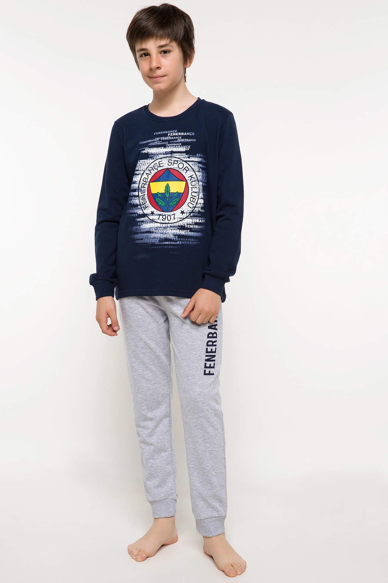 DeFacto Erkek Çocuk Dört Büyükler Lisanslı Pijama Takımı Lacivert male