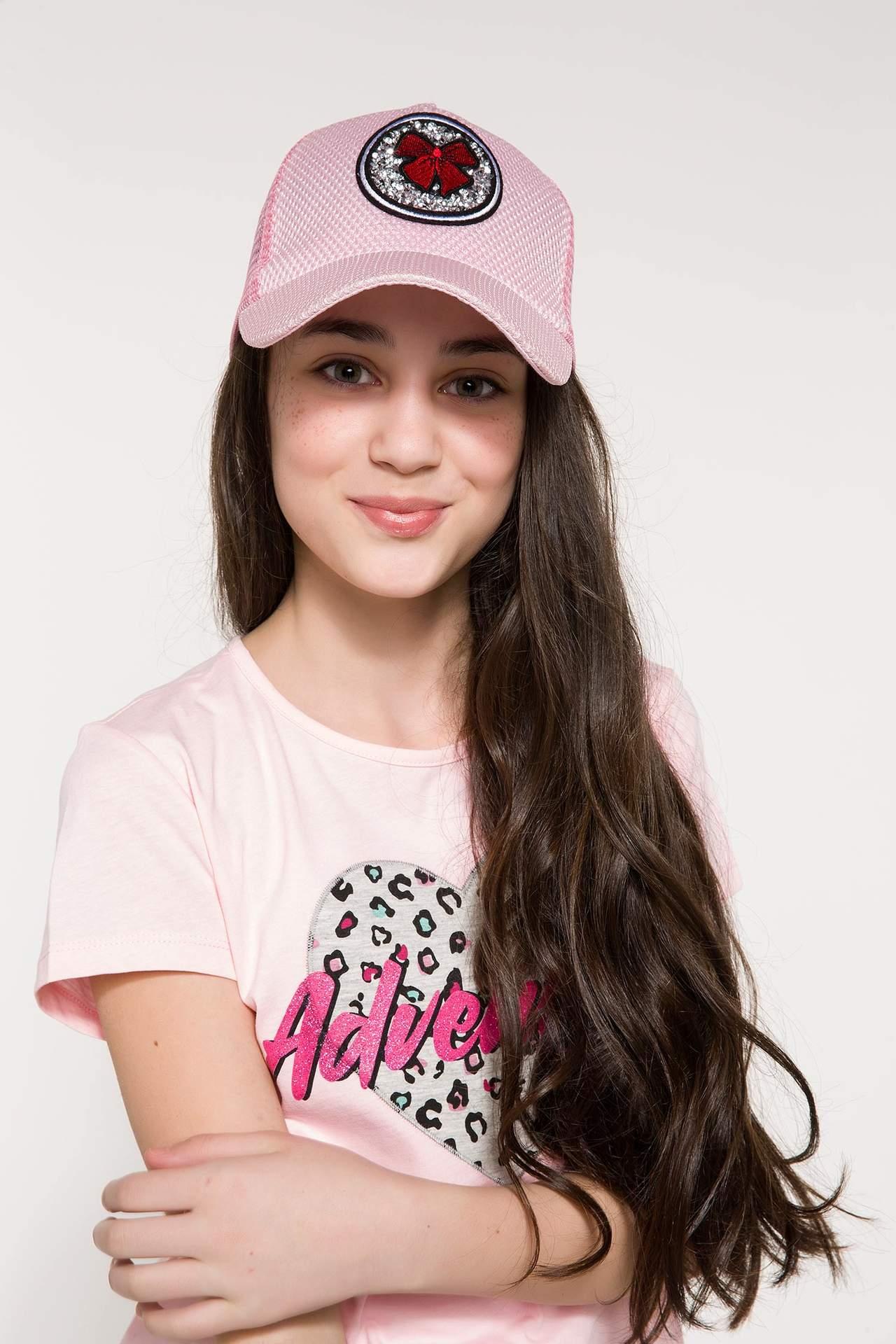 DeFacto Kız Çocuk Baskılı Şapka Pembe female
