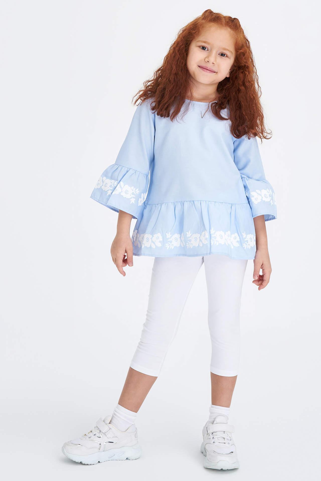 DeFacto Kız Çocuk Slim Fit Tayt Beyaz female
