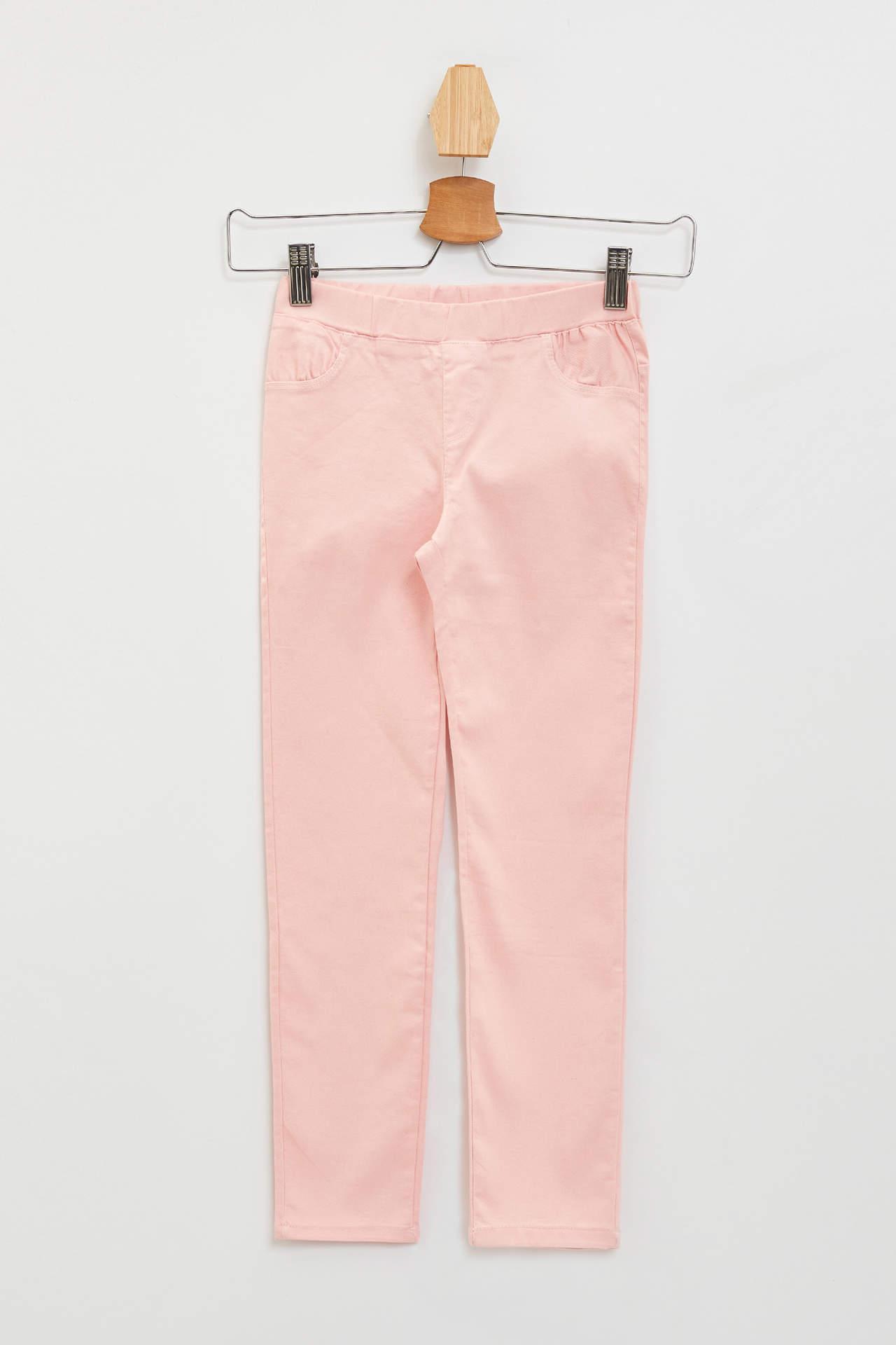 DeFacto Kız Çocuk Slim Fit Tayt Pantolon Pembe female