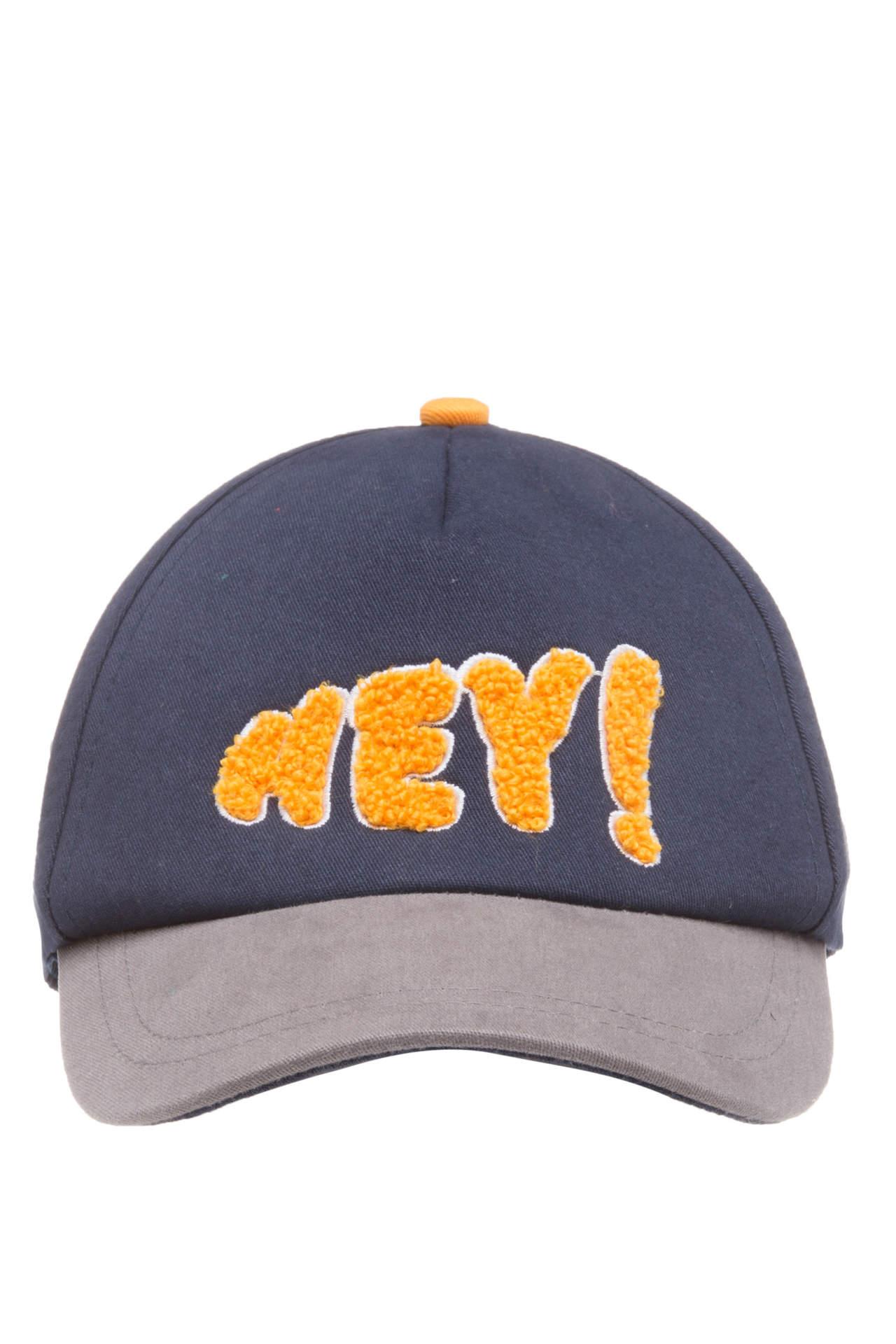 DeFacto Erkek Çocuk Yazı Baskılı Baseball Şapka Mavi male