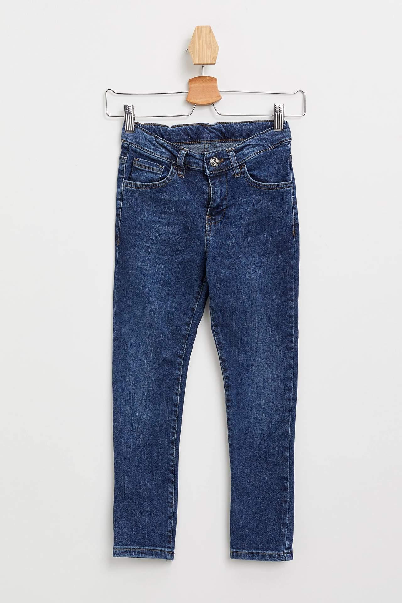 DeFacto Erkek Çocuk Slim Fit Jean Pantolon Mavi male