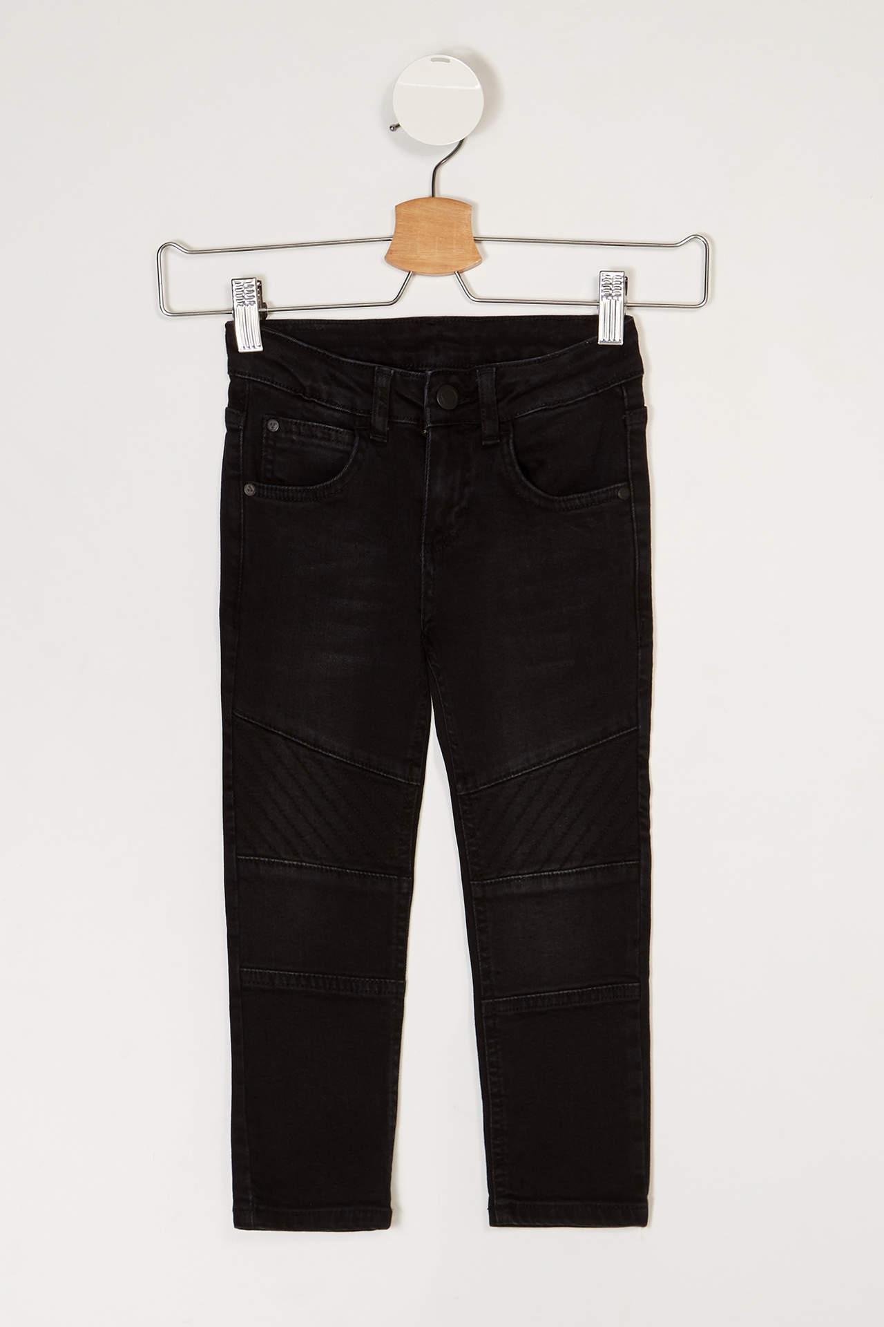 DeFacto Erkek Çocuk Slim Fit Jean Pantolon Siyah male