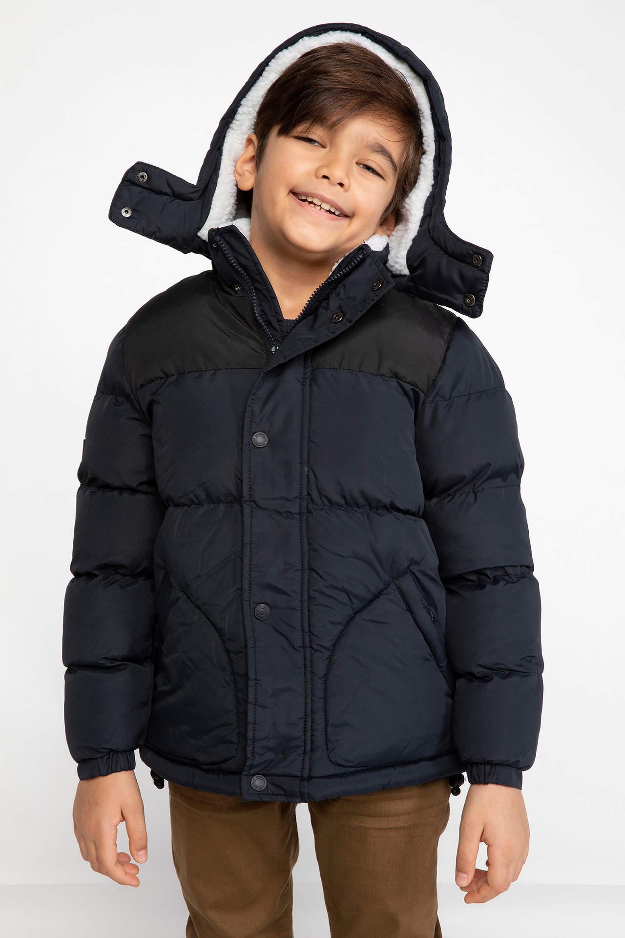 DeFacto Erkek Çocuk Şişme Mont Lacivert male