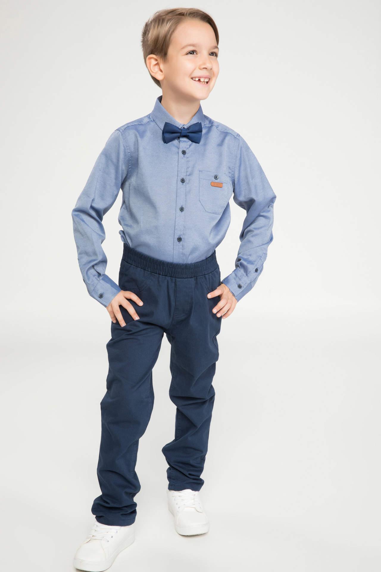 DeFacto Erkek Çocuk Basic Gabardin Pantolon Mavi male