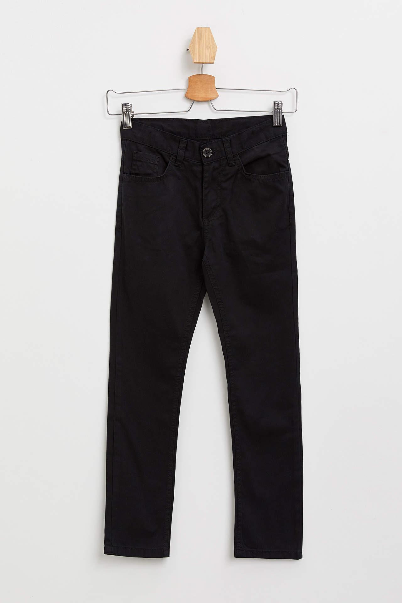 DeFacto Erkek Çocuk Basic Gabardin Pantolon Siyah male