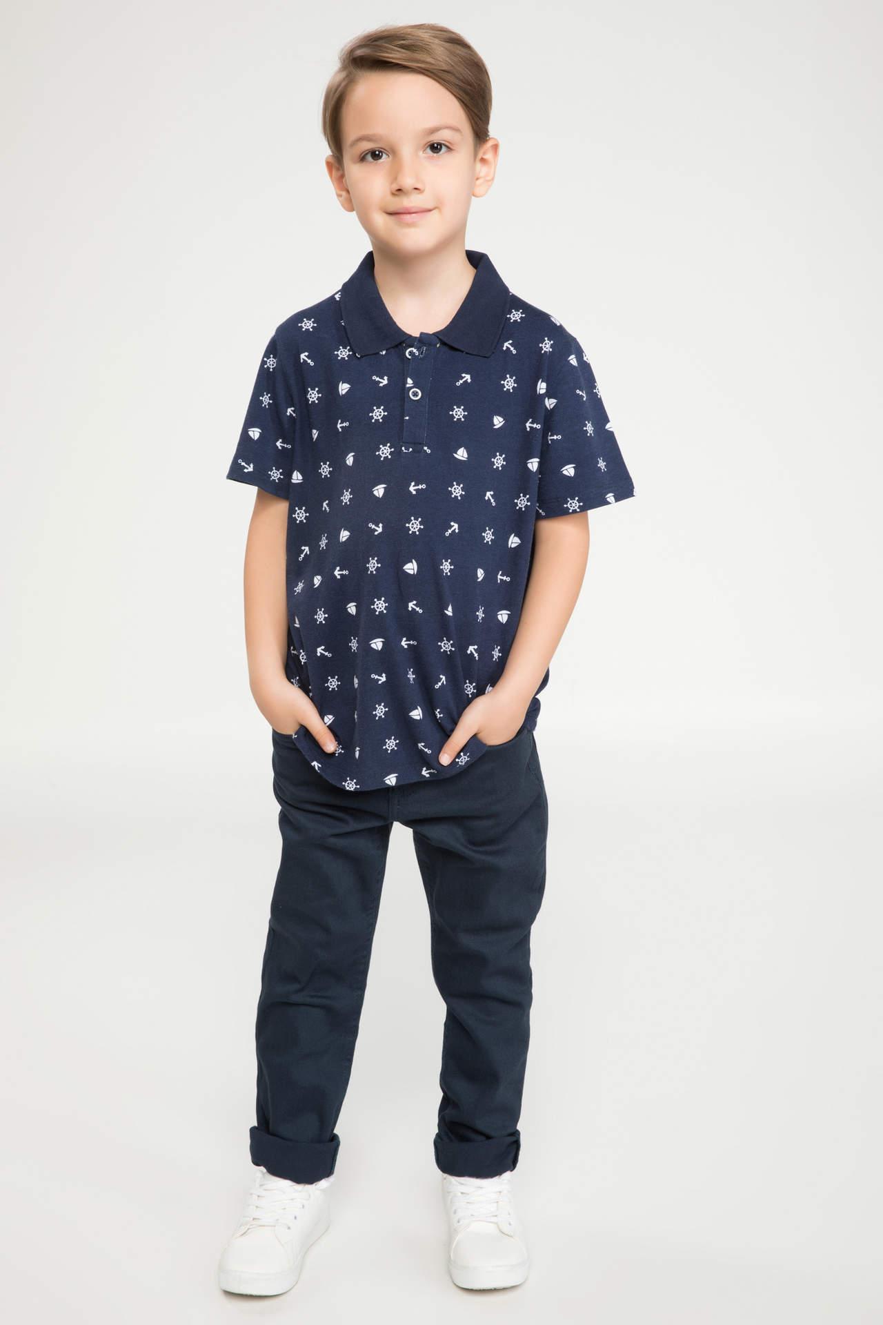 DeFacto Erkek Çocuk Düz Kesim Pantolon Mavi male