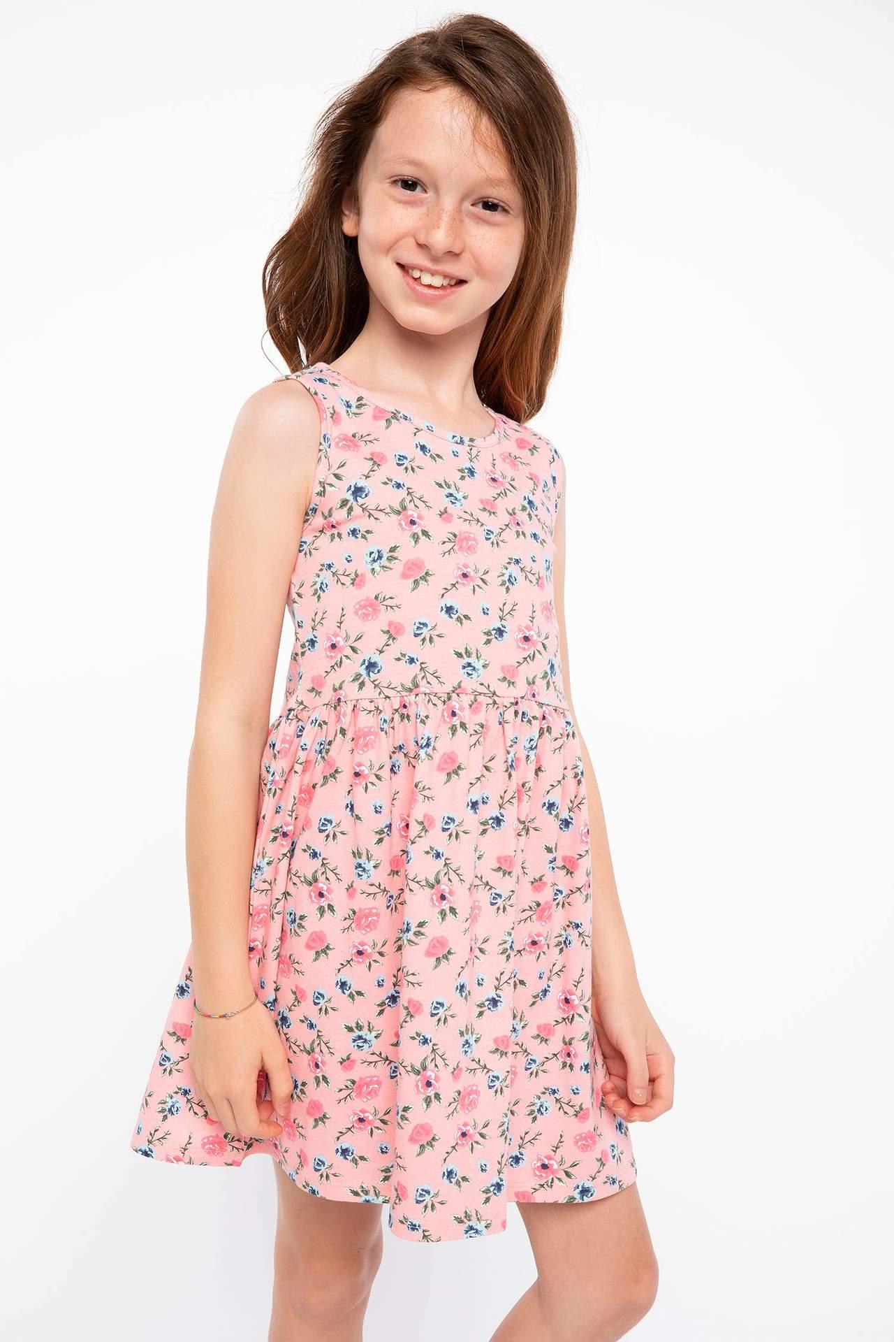 DeFacto Kız Çocuk Elbise Pembe female