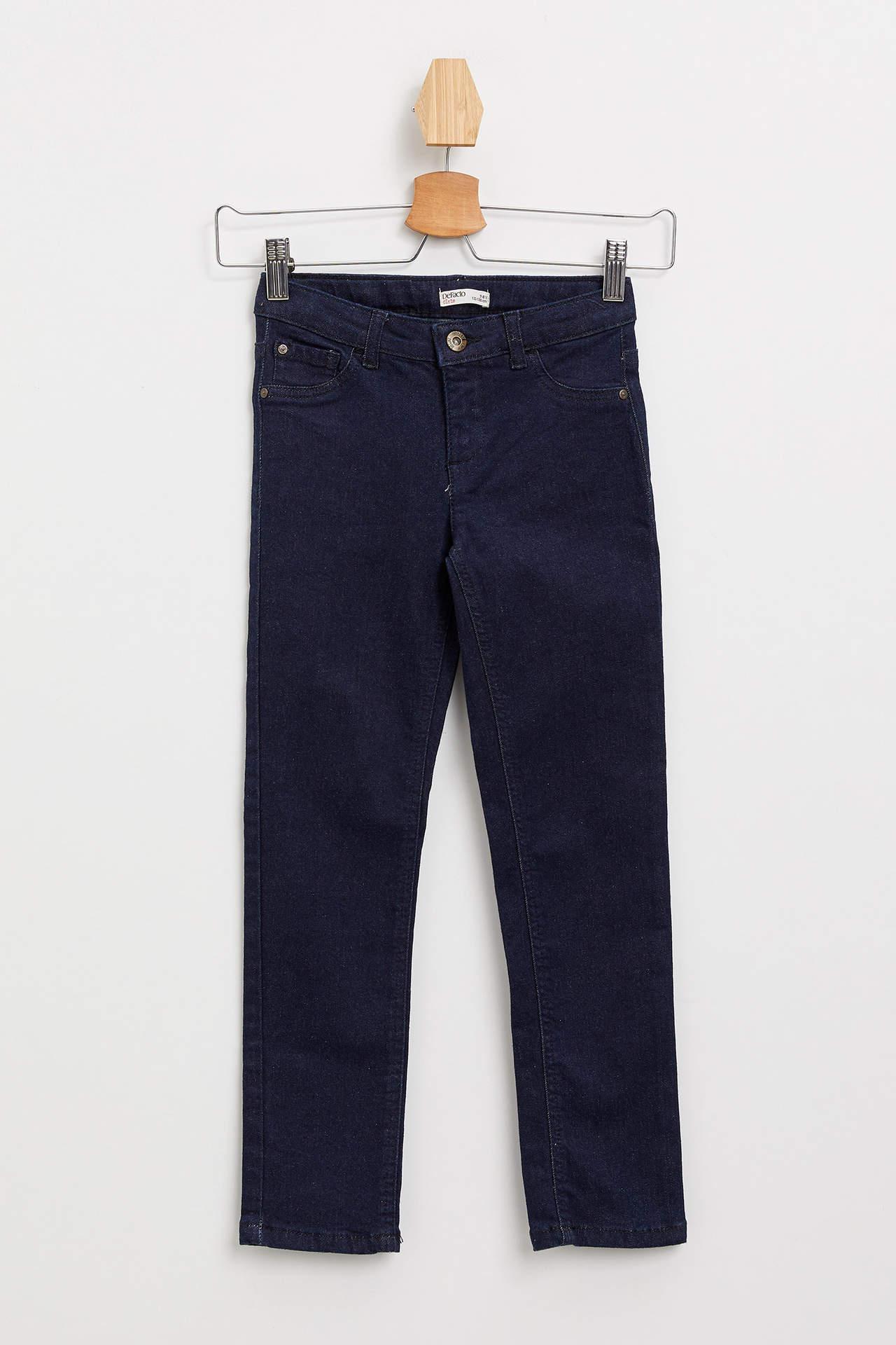DeFacto Kız Çocuk Skinny Fit Jean Pantolon Mavi female