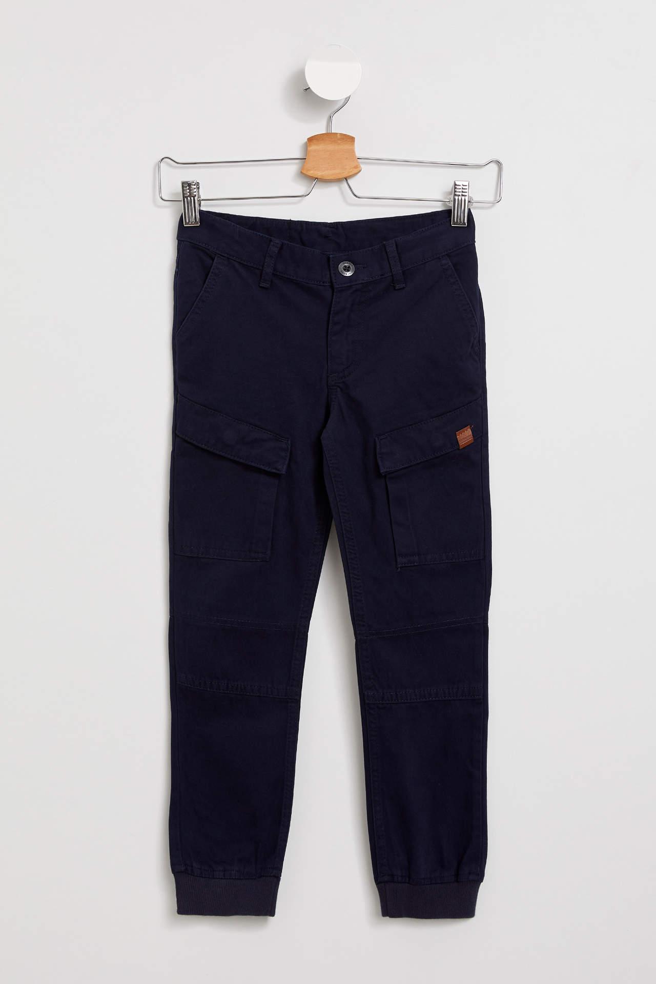 DeFacto Erkek Çocuk Kargo Fit Jogger Pantolon Mavi male