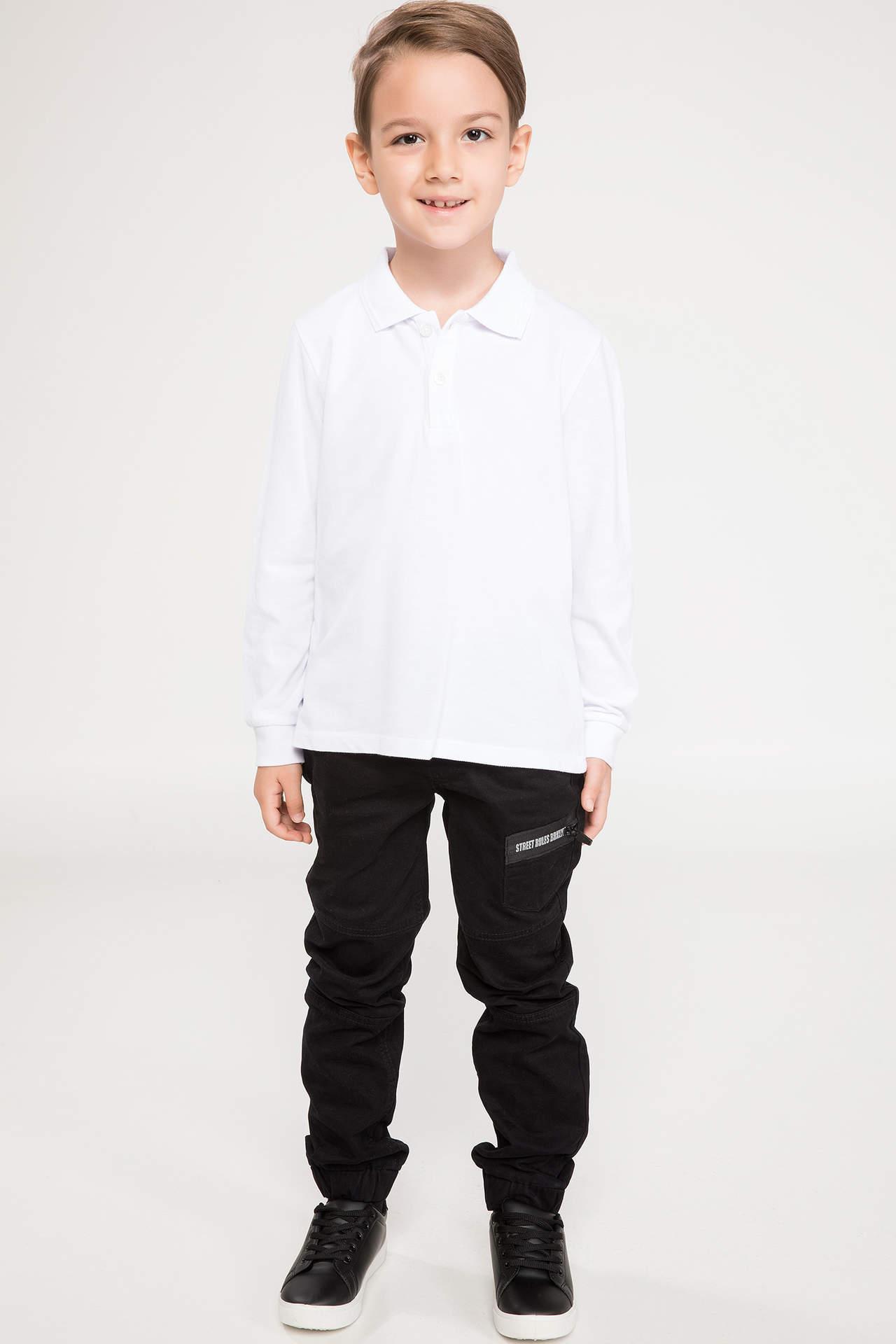 DeFacto Erkek Çocuk Jogger Pantolon Siyah male