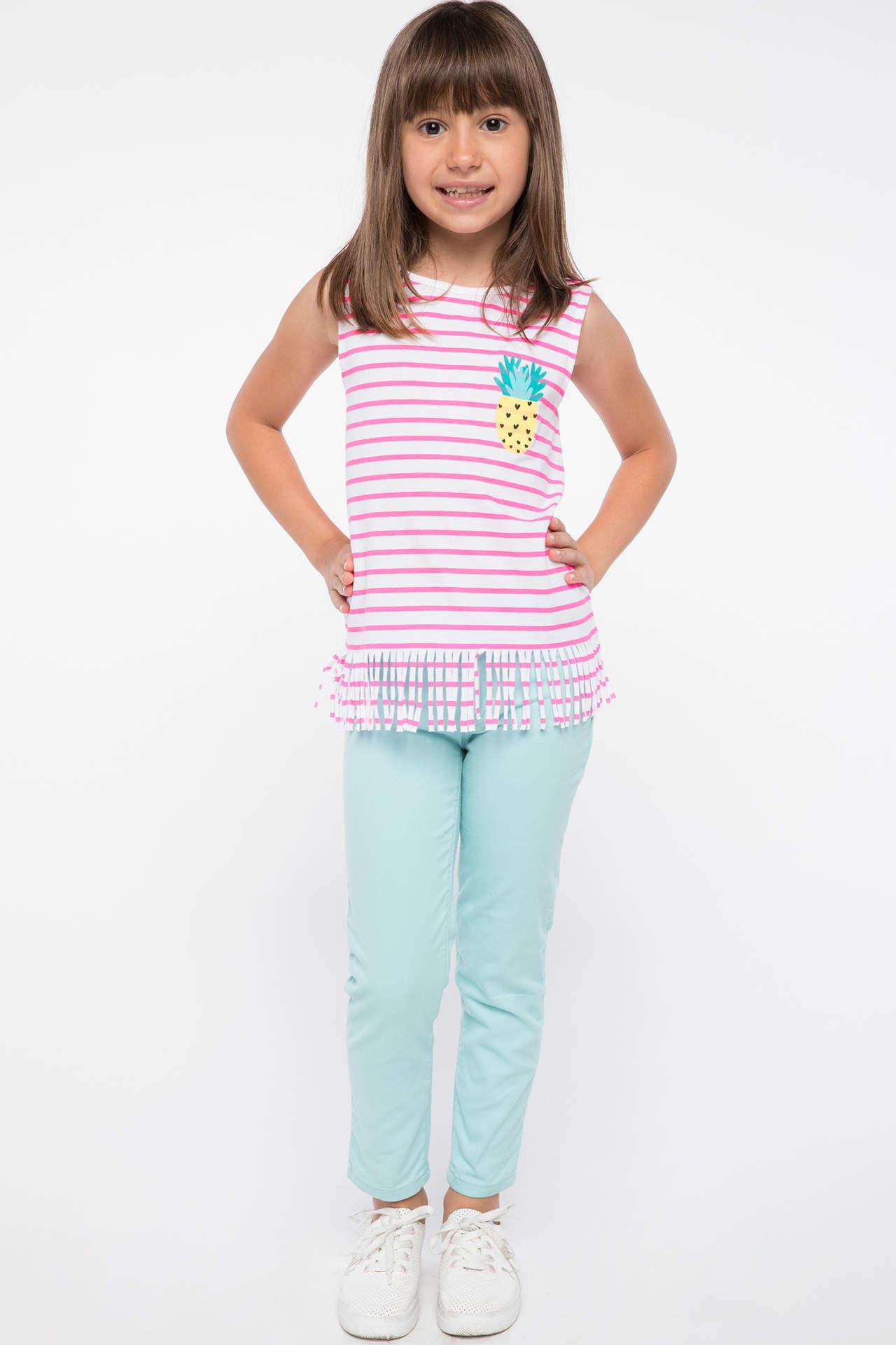 DeFacto Kız Çocuk Skinny Fit Pantolon Turkuaz female