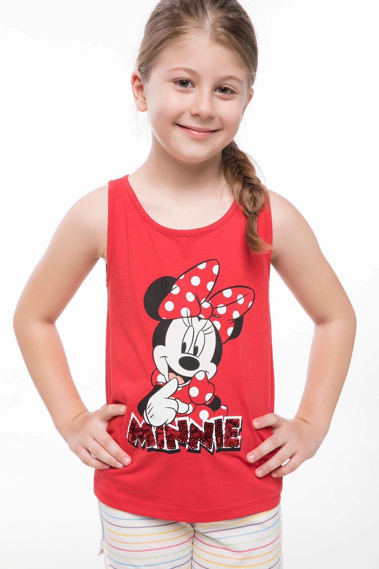 DeFacto Kız Çocuk Mickey Mouse Lisanslı Atlet Kırmızı female