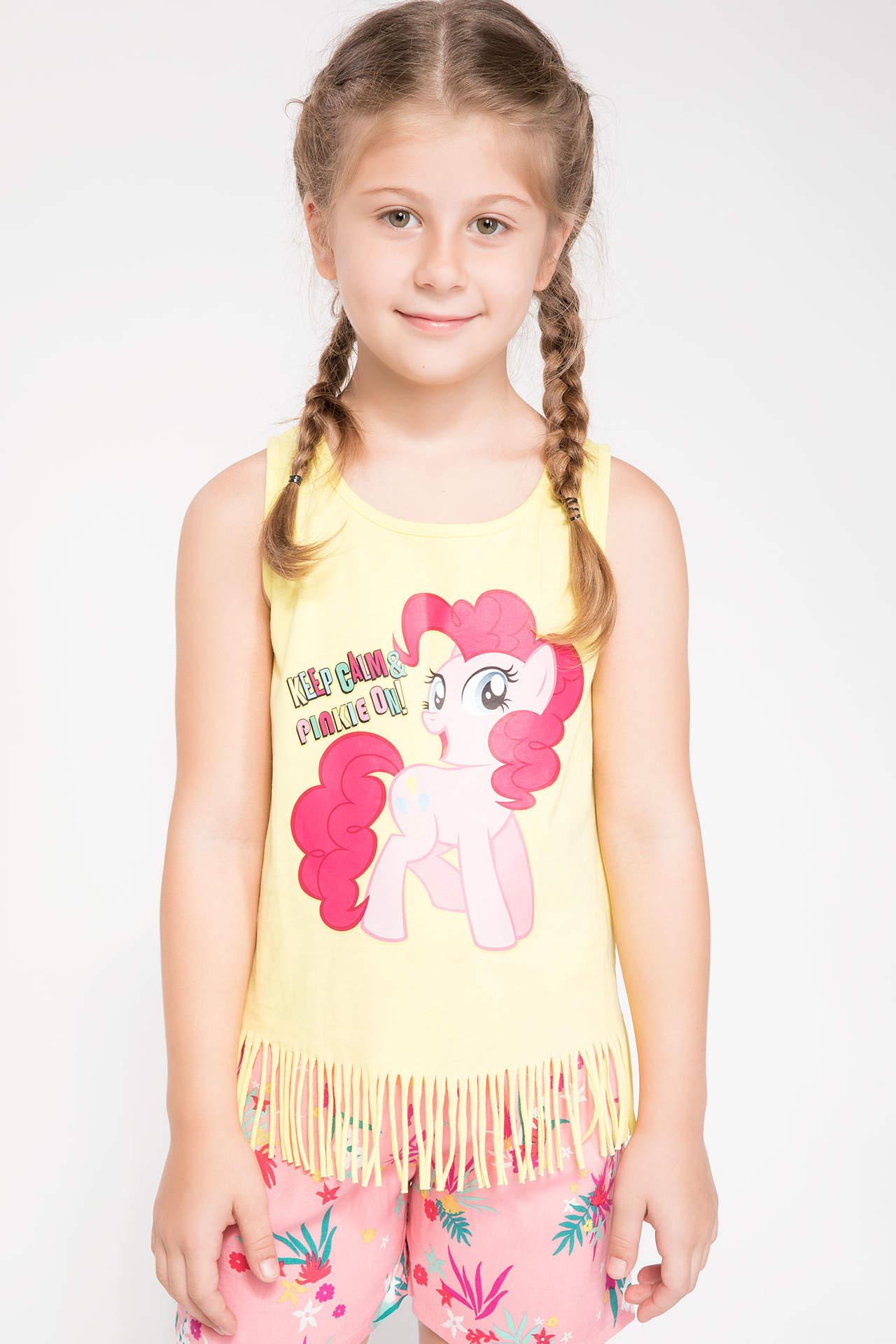 DeFacto Kız Çocuk My Little Pony Lisanslı Püsküllü Atlet Sarı female