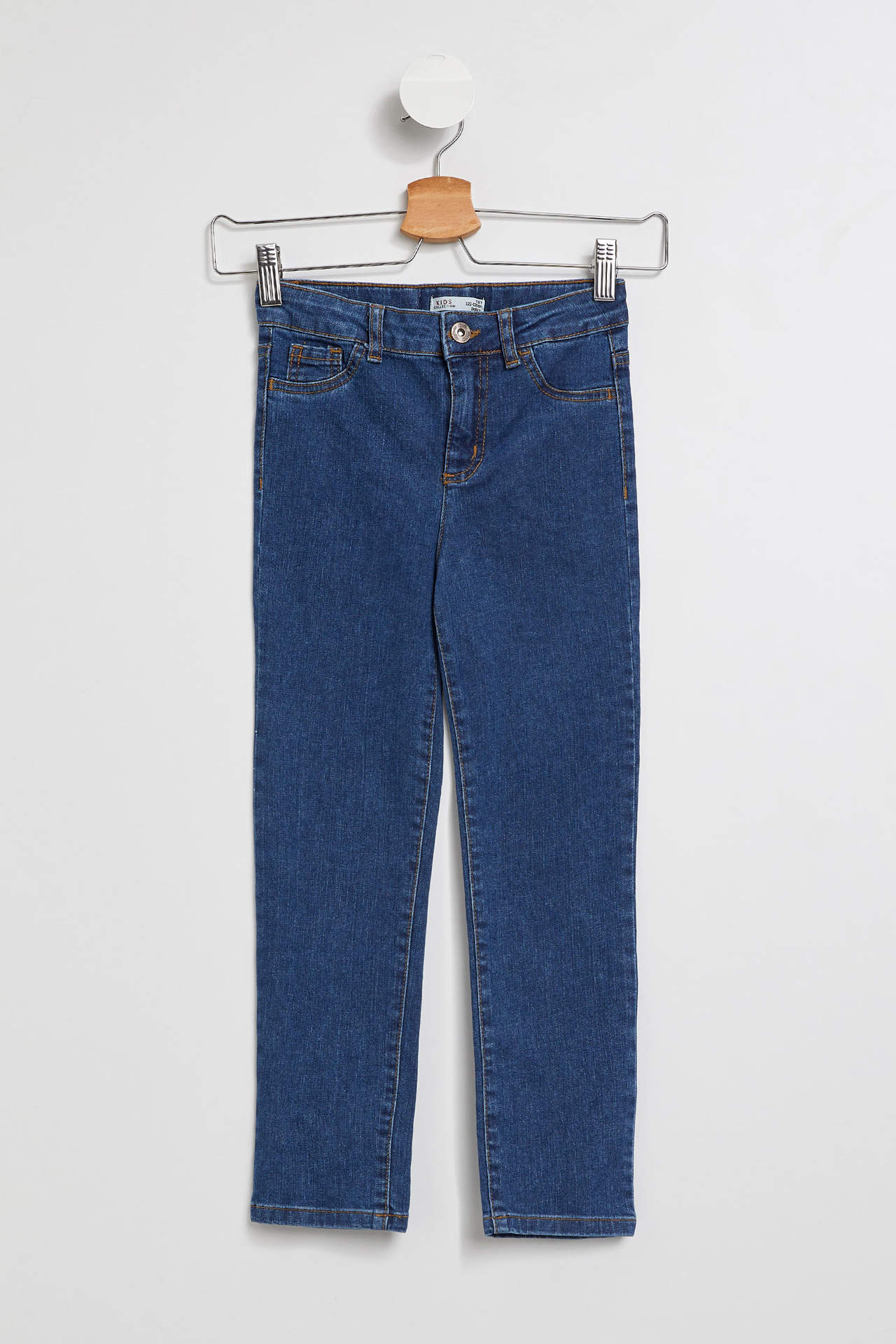 DeFacto Kız Çocuk Slim Fit Jean Pantolon Mavi female