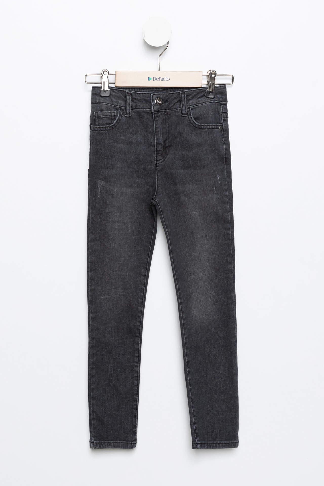 DeFacto Kız Çocuk 5 Cep Slim Fit Jean Pantolon female